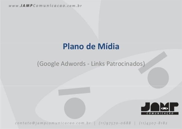 Plano de Mídia(Google Adwords - Links Patrocinados                        Patrocinados)