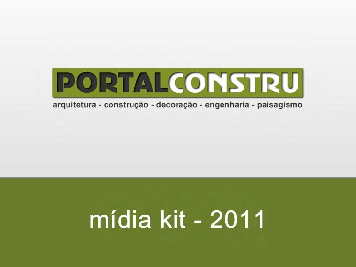 mídia kit - 2011