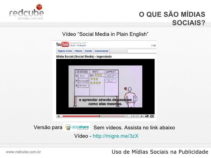 """O QUE SÃO MÍDIAS SOCIAIS? Uso de Mídias Sociais na Publicidade Versão para Vídeo -  http://migre.me/3zX   Vídeo """"S ocial M..."""