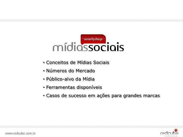 <ul><li> Conceitos de Mídias Sociais