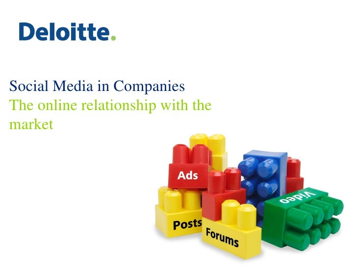 Social Media in Companies The online relationship with the market
