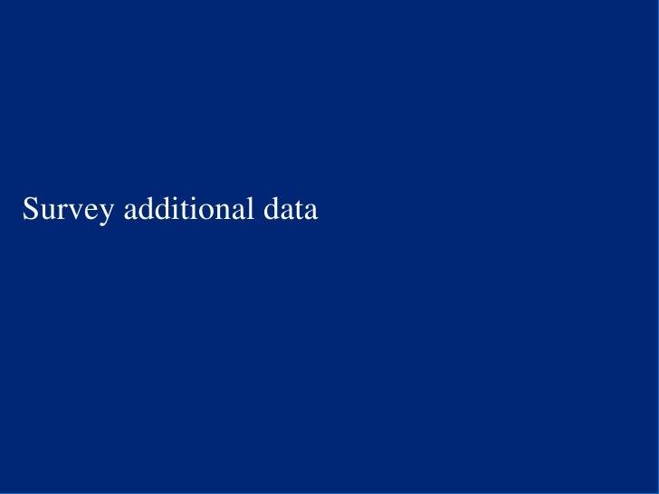 Survey additional data