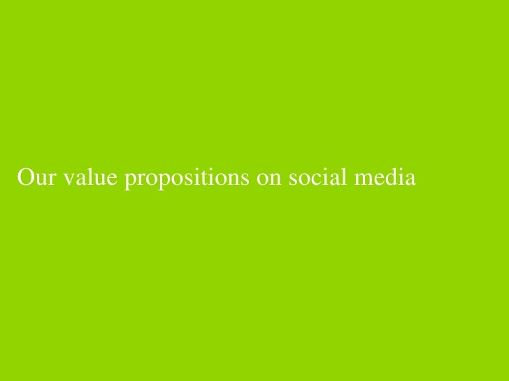 Our value propositions on social media