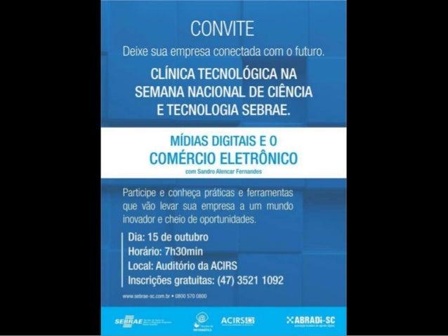 Mídias Sociais e o  Comércio Eletrônico  Sandro Alencar Fernandes  Diretor Executivo Área Local  Diretor ABRADi
