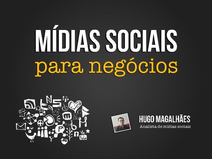 para negócios         Analista de mídias sociais