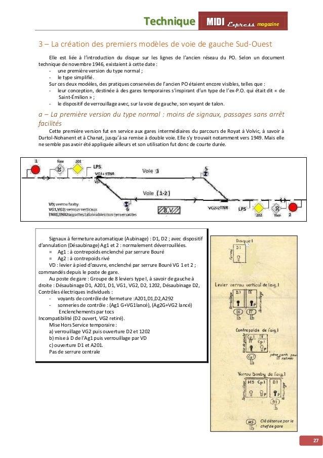 MMMIIIDDDIII EEExxxppprrreeessssss magazine TTeecchhnniiqquuee 28 b – La gare de voie de gauche type simplifié Sud-Ouest :...