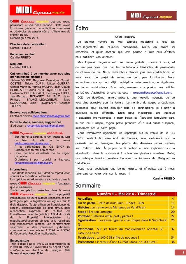 MMMIIIDDDIII EEExxxppprrreeessssss magazine AAccttuuaalliittééss 4 UM de 73500 en Lozère Afin d'assurer la rotation supplé...