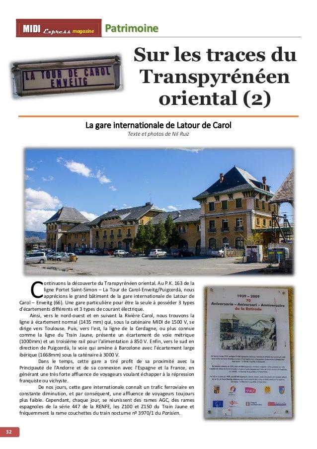 PPaattrriimmooiinnee MMMIIIDDDIII EEExxxppprrreeessssss magazine 33 Le Parisien nº3970 Latour – Paris Austerlitz le 3 août...