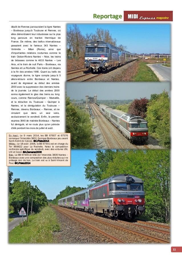 Reporttage MMI IIDDI II EEx xxp ppr rre ees sss ss magazine  11  dépôt de Rennes parcouraient la ligne Nantes  – Bordeaux ...