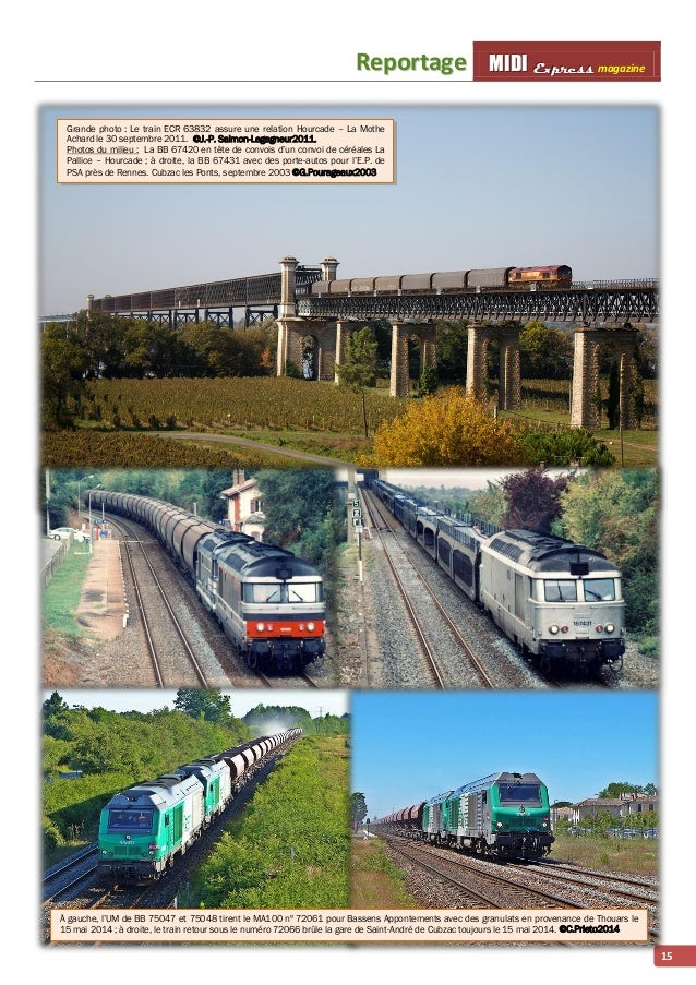 Reporttage MMI IIDDI II EEx xxp ppr rre ees sss ss magazine  15  Grande photo : Le train ECR 63832 assure une relation Hou...