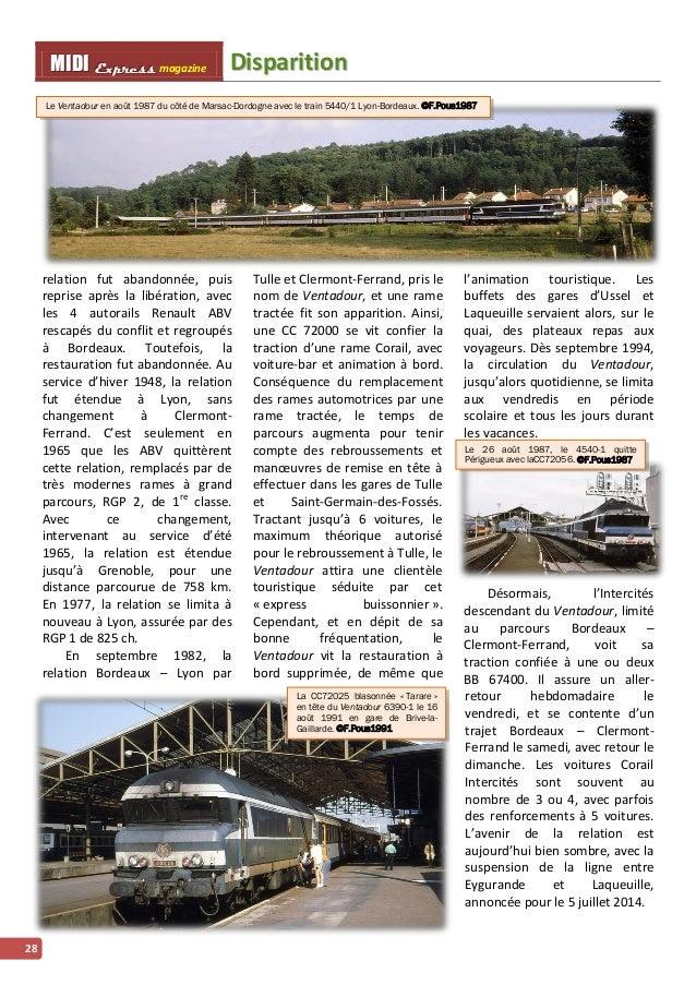 MMI IIDDI II EEx xxpppr rre ees sss ss magazine Diispariittiion  28  Le Ventadour en août 1987 du côté de Marsac-Dordogne ...