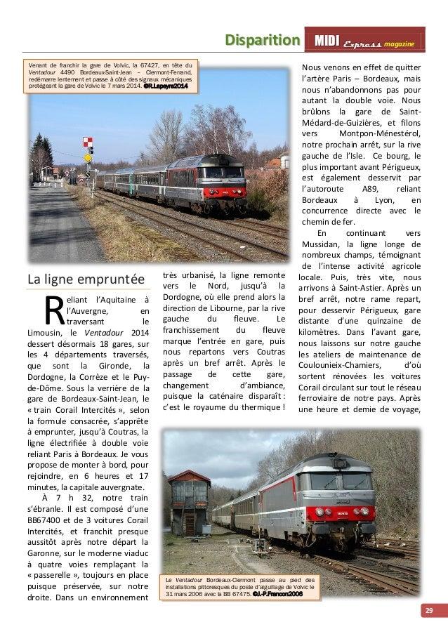 Diispariittiion MMI IIDDI II EEx xxpppr rre ees sss ss magazine  29  Venant de franchir la gare de Volvic, la 67427, en tê...