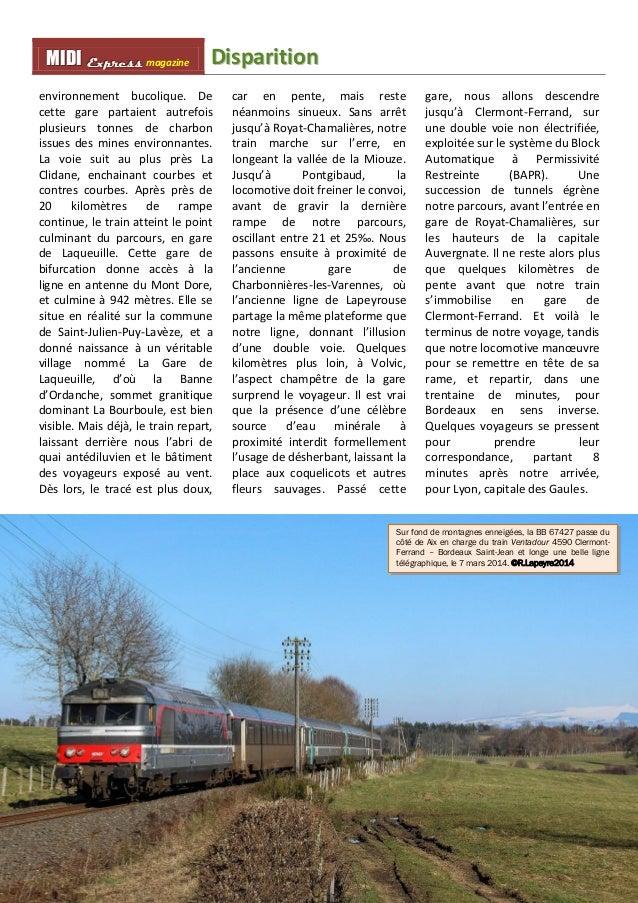 MMI IIDDI II EEx xxpppr rre ees sss ss magazine Diispariittiion  32  environnement bucolique. De  cette gare partaient aut...