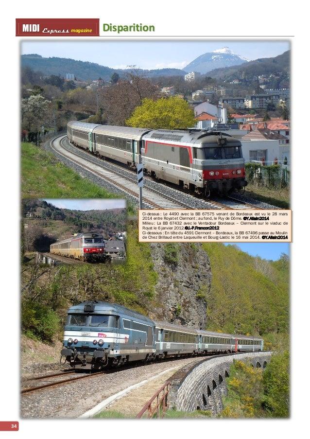 MMI IIDDI II EEx xxpppr rre ees sss ss magazine Diispariittiion  34  Ci-dessus : Le 4490 avec la BB 67575 venant de Bordea...