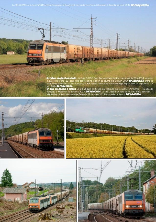 La BB 26118 sur le train 50040 reliant Perpignan à Rungis est vue ici dans le Tarn & Garonne, à Canals, en avril 2014 ©B.P...