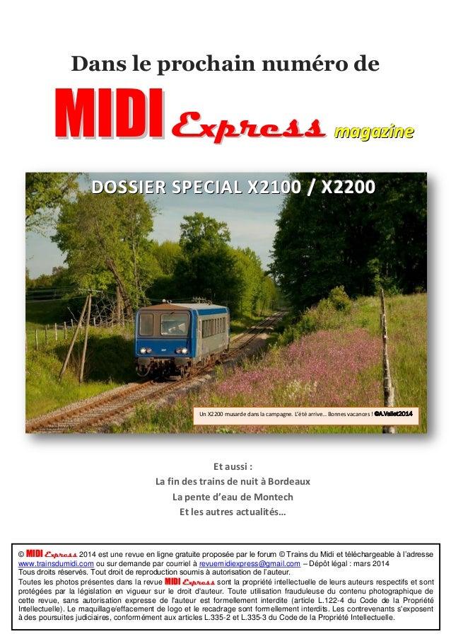 Dans le prochain numéro de  MIIDII Express maaggaazziinnee  DOSSSSIIEERR SSPPEECCIIALL XX22110000 // XX22220000  Un X2200 ...