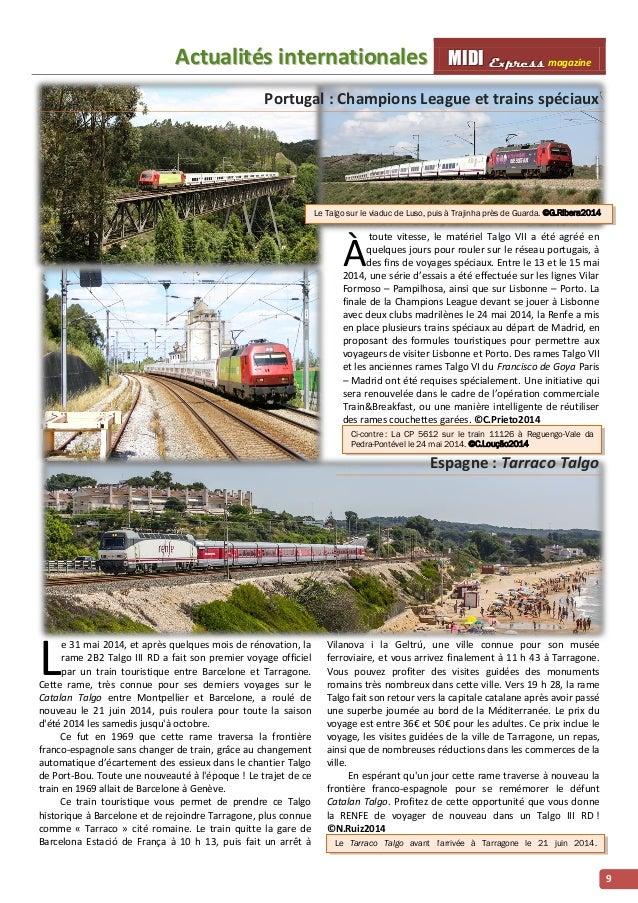 Acttualliittés iintternattiionalles MMI IIDDI II EEx xxp ppr rre ees sss ss magazine  9  Portugal : Champions League et tr...