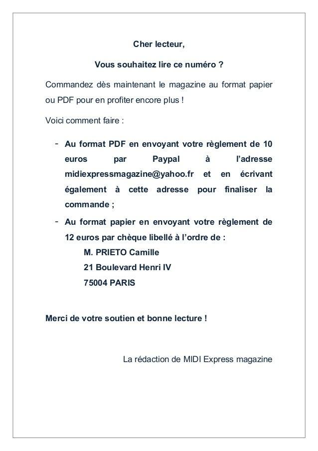 Cher lecteur, Vous souhaitez lire ce numéro ? Commandez dès maintenant le magazine au format papier ou PDF pour en profite...