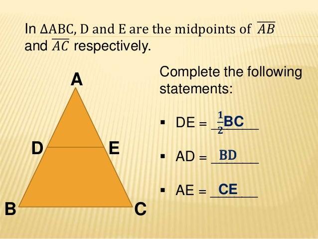Midline theorem - Mathematics - Geometry Slide 3