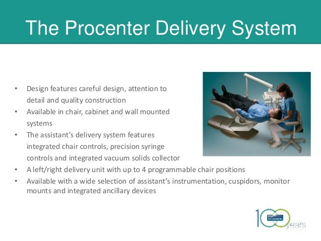 The Procenter Delivery System • Design features careful design, attention to detail and quality construction • Available i...