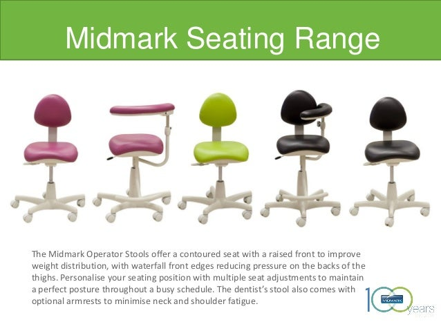 Midmark Seating Range Image placeholder The Midmark Operator Stools offer a contoured seat with a raised front to improve ...