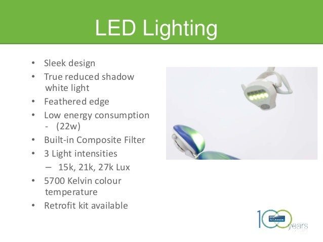 LED Lighting • Sleek design • True reduced shadow white light • Feathered edge • Low energy consumption - (22w) • Built-in...