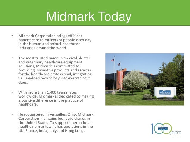 Midmark Today • Midmark Corporation brings efficient patient care to millions of people each day in the human and animal h...