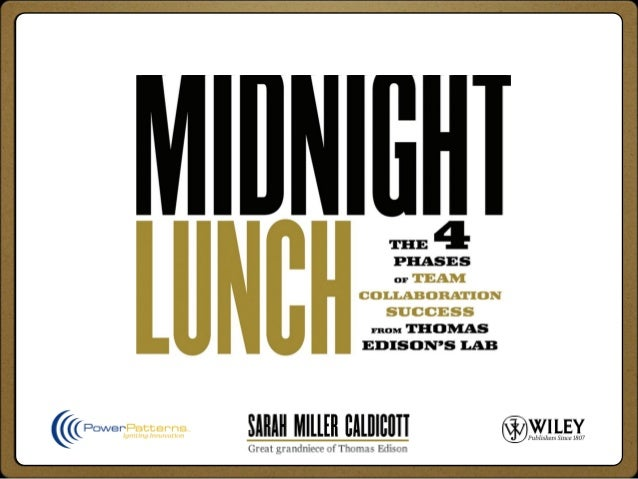 Book OverviewMidnight Lunch offers a vision forhow collaboration teams can operatetodayCollaboration serves as the backbon...