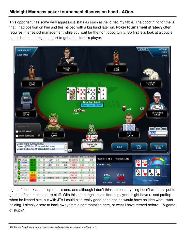 Best Poker Tournament Strategy