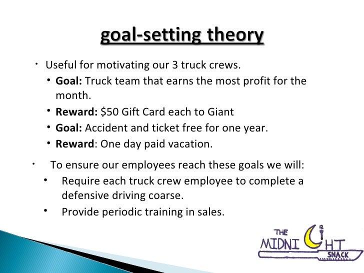 <ul><li>Useful for motivating our 3 truck crews. </li></ul><ul><ul><li>Goal:  Truck team that earns the most profit for th...