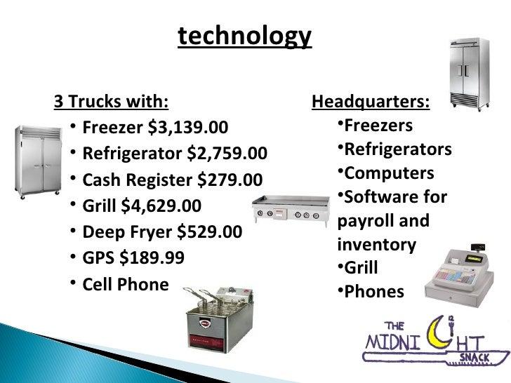 <ul><li>3 Trucks with: </li></ul><ul><ul><li>Freezer $3,139.00 </li></ul></ul><ul><ul><li>Refrigerator $2,759.00 </li></ul...