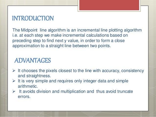 Mid point line Algorithm - Computer Graphics Slide 2