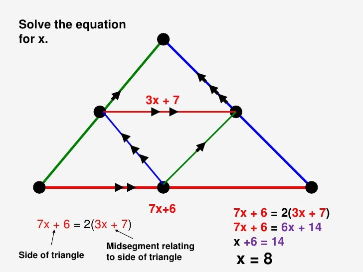Image Gallery Midsegment Formula – Midsegments of Triangles Worksheet