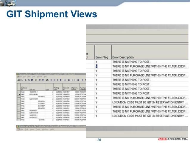 26 GIT Shipment Views