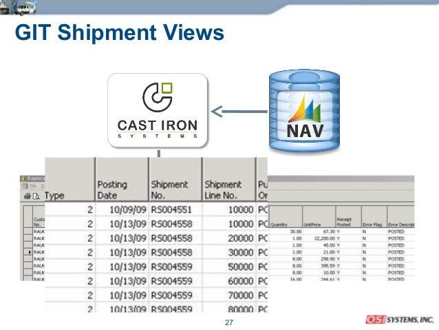 27 GIT Shipment Views