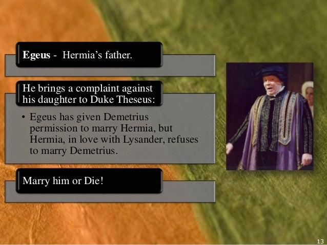 egeus and hermia relationship