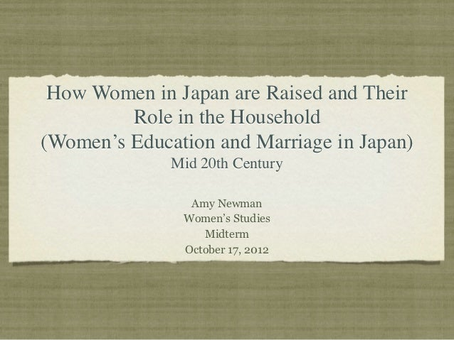 How Women in Japan are Raised and Their         Role in the Household(Women's Education and Marriage in Japan)            ...