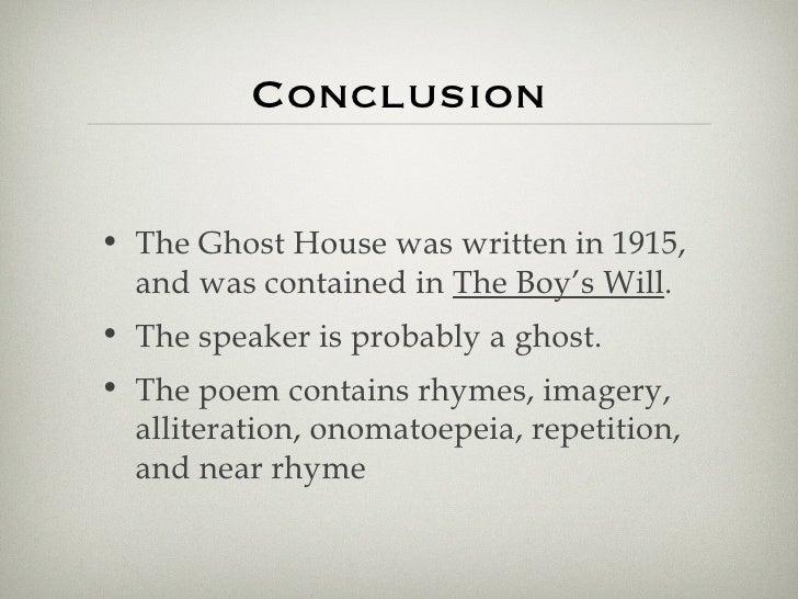 ghost house poem