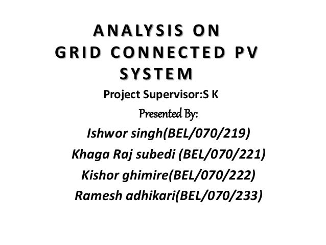 Mid term report on analysis of grid connected PV system