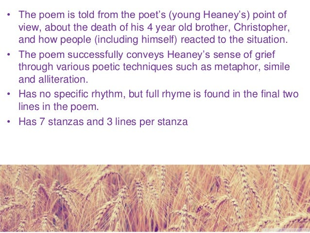 midterm break commentary Download this annotation here: annotation prompts for seamus heaney's.