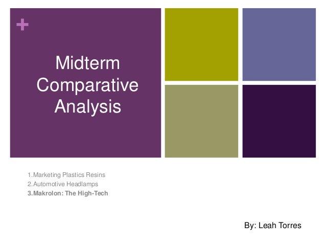 +MidtermComparativeAnalysis1.Marketing Plastics Resins2.Automotive Headlamps3.Makrolon: The High-TechBy: Leah Torres