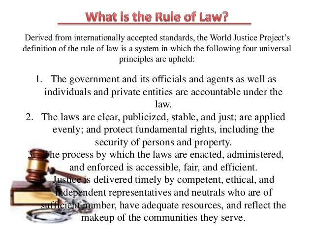 admin law rule of law The concept of 'rule of law preference for judges and ordinary courts of law to executive authorities and administrative it means the rule by a democratic law.
