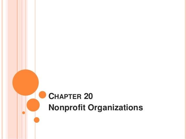 CHAPTER 20 Nonprofit Organizations