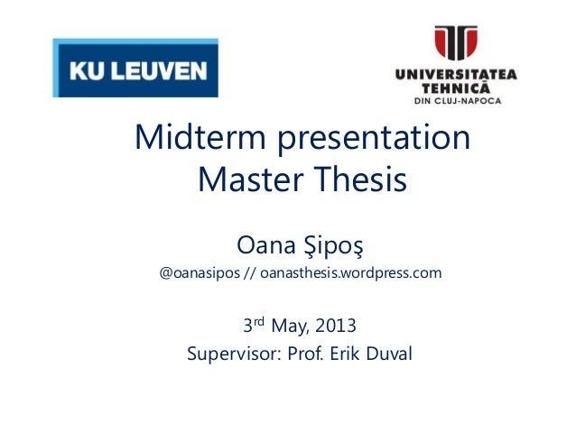 Thesis midterm presentation toneelgroepblik Gallery