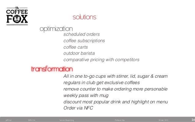 Coffee fox service blueprint creative problem solving drink and highlight on menu order via nfc 24 malvernweather Gallery