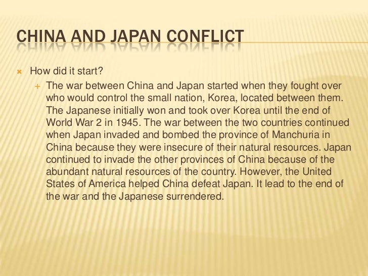 What Natural Resources Did Japan Want From China