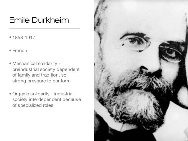 Essays emile durkheim organic solidarity