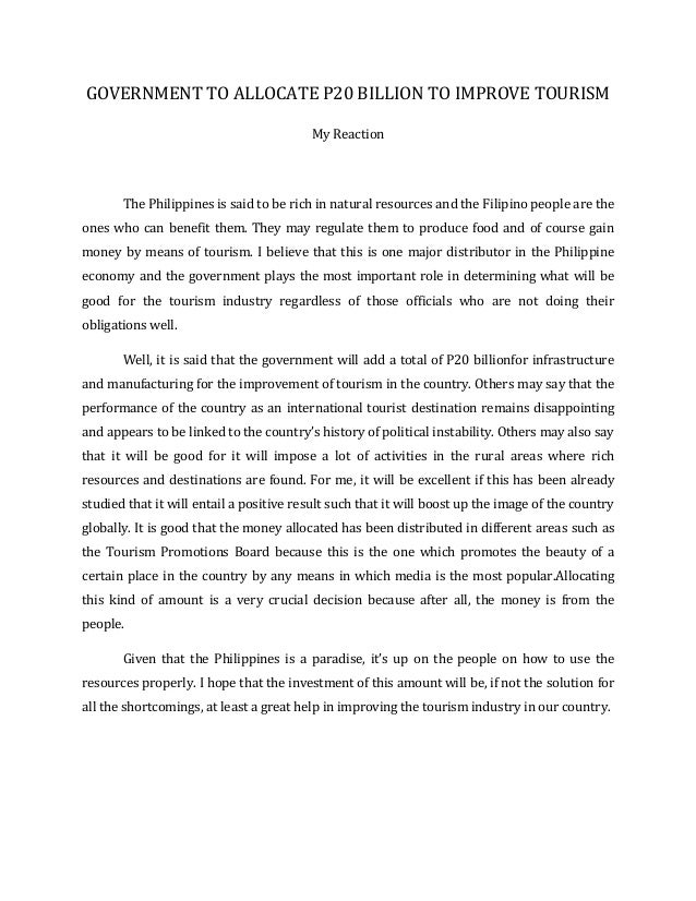 A reaction paper on the calatagan