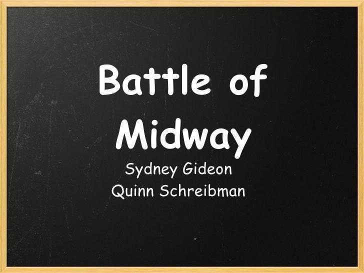 Battle of Midway Sydney GideonQuinn Schreibman