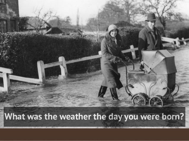 What was the weather the day you were born?